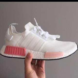 Adidas NMD R1 Wmns White Rose Pink $200