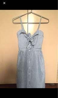 ZARA inspired stripes dress