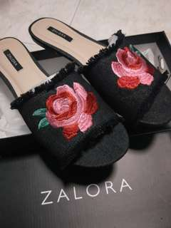 Zalora Embroided Sliders
