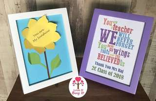 "9"" x 7"" Colourful Photo Frames / Craft Display"