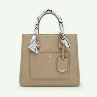 PEDRO SATCHEL BAG  BEIGE & BLACK COLOR