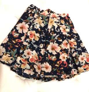 Flower Flared Skirt Murah