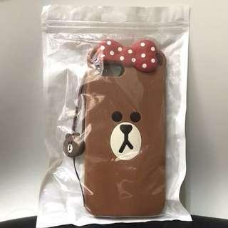 Line friends Brown 熊大 iPhone 7 Plus/ 8s 手機殻