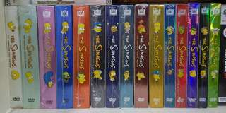 Simpsons DVD and Bluray collection