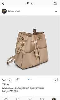 ZARA STRING BUCKET BAG