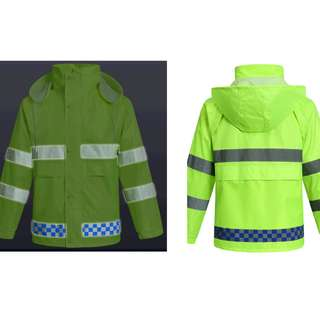 Motorbikes - Neon Raincoat Set with Reflective Stripes