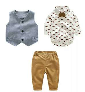 🚚 Foxy baby boy suit set