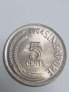 5 cent coin - 1984