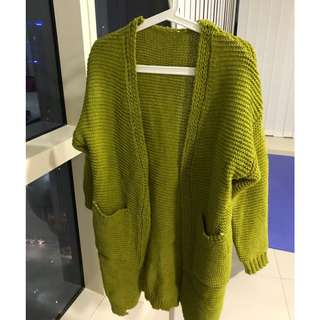 Autumn Winter Women Knitted Long Sleeve Loose Casual Cardigan Coat