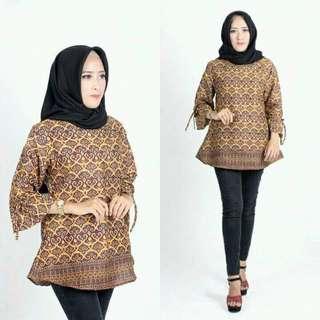 Blouse batik cantik murah ( hsna)