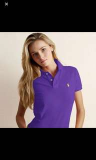 🌞全新 Ralph Lauren紫色Polo衫