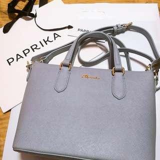 Paprika粉藍手袋👜