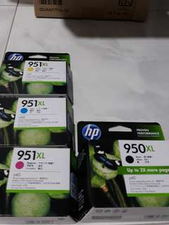 HP950xl, 951xl ink cartridges