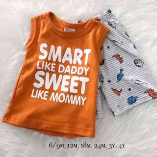 Boy Apparel with set 100% Cotton