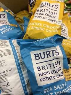 🚚 Burts 波滋 英國 手作 手工 洋芋片 鹽醋 香蔥起司 Salt Vinegar/ Cheddar Burts洋芋片