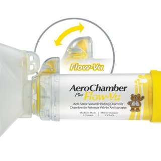 AeroChamber Plus Flow-Vu(Medium Mask) For Child 2-6 Years Old