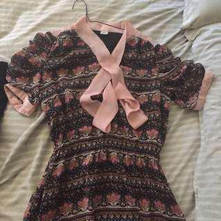 Floral dress size 10-12
