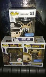 (ON HAND) Stan Lee, Cull Obsidian & Captain America Marvel Funko Pop Bundle