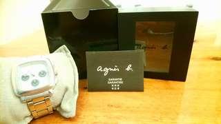 agnes b. 男裝鋼帶手錶