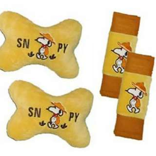 Car Set Bantal mobil 2 in 1 motif Snoopy