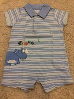 USED - Carter's Light Blue Rhino Jumper