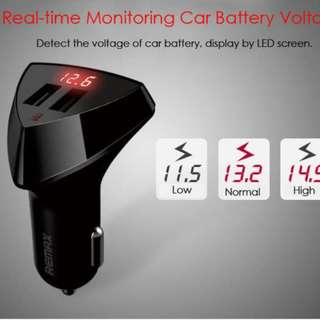 ANGEL Remax Charger Mobil Alien Series Car Charger 2 USB 3.4A RCC-208 - hitam