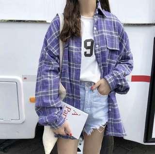 紫色襯衫外套(有實拍照)