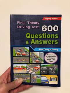 Brand New Final Theory Driving Test Book