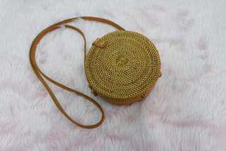 REPRICED round rattan bag