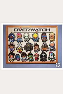 Overwatch Characters in a frame