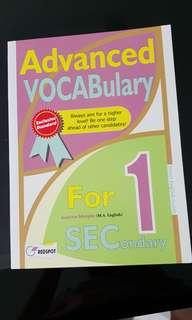 New sec 1 advanced vocabulary by redspot