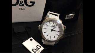 D&G Dolce & Gabbana Womens DW0746 Salt and Pepper Round Crown Case Watch
