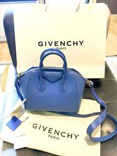 givenchy mini antigona baby blue fullset
