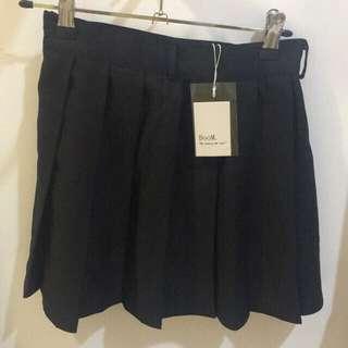 Korean tennis skirt black