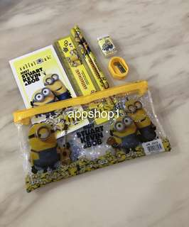 Minions pencil case stationary set/ children birthday goodies favors, goody bag gift