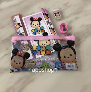 Tsum tsum pink stationary packages- goody bag, goodies bag gift