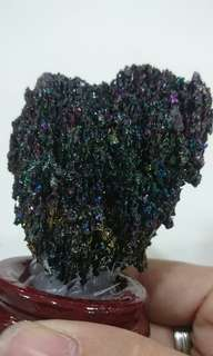 Colourful Black Crystal Stone