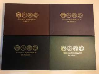 Mexico 2011-2014 silver proof coin sets complete set