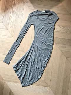T by Alexander Wang Asymmetric dress 薄身不規則連身裙