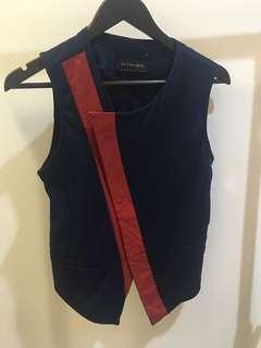 Pre loved vest merah-biru tua