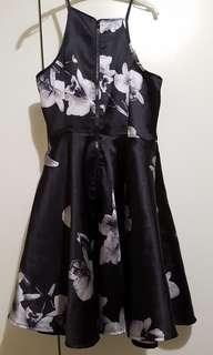 Black Floral Party Dress