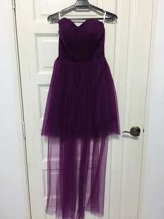 Dark Purple Dress dinner dress