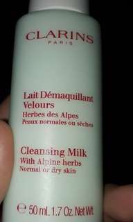 Clarins cleansing milk with alpine herbs-50ml