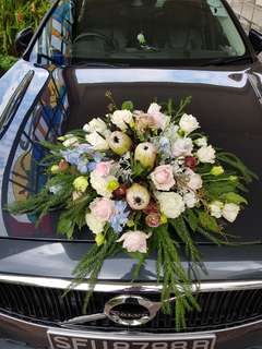🚚 Bridal car deco