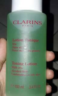 Clarins toning lotion with iris-alcohol free 100ml