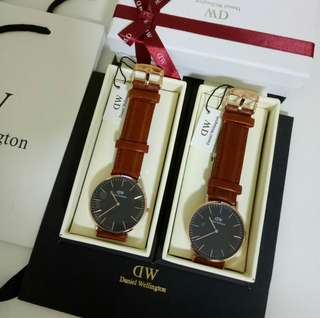 🚚 [DISCOUNTED] DANIEL WELLINGTON CLASSIC ST MAWES BLACK 40MM