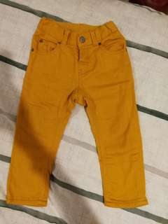 Mustard colored long pants