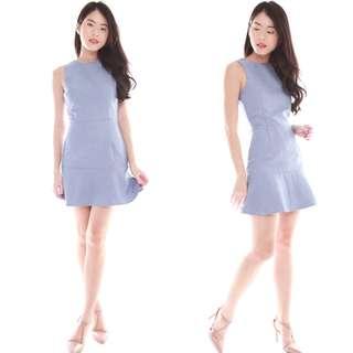🚚 Brand New Skater Dress in Colour Light Denim