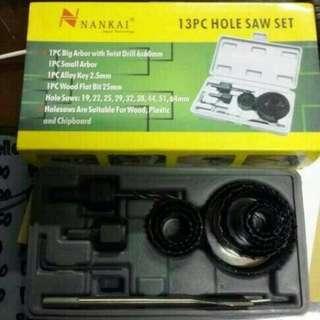 NANKAI Holesaw Kit / Hole Saw Kit / Mata Bor Pelubang Kayu Set 13pcs