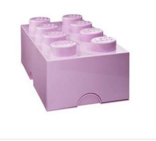 Preloved LEGO brick storage box L - light pink